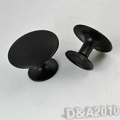 Solid Round Black Drawer Pull Kitchen Cabinet Cupboard Handle knob Door Hardware