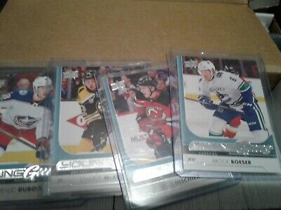 2017-18 Upper Deck Series 1 complete set with Young guns 1-250 Boeser Hischier