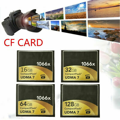 High Speed Compact Flash CF Momery Card 16GB 32GB 64GB 1066x 160MB/s For Camera