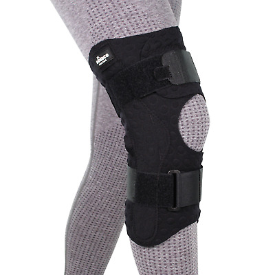Solace Deluxe Dual Hinge Adjustable Knee Protection Stabiliser Wrap Support