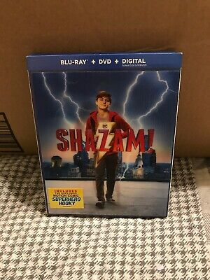 Shazam!, 2019 Blu-Ray / DVD Combo, 2 Disc Set, NO DIGITAL COPY, With Slipcover