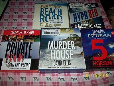 Large Lot 5 Unabridged Cd Audiobooks, James Patterson, 5Th Horseman, Nypd Red, +