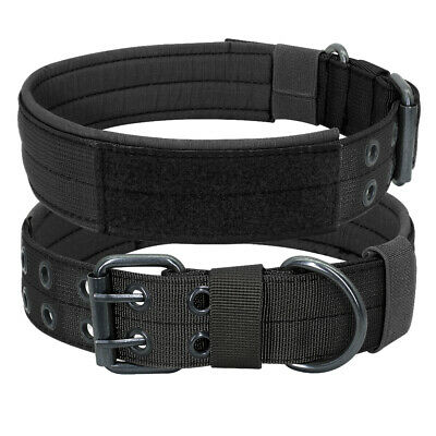 Tactical Military Dog Collar Heavy Duty Training German Shepherd K9 Boxer Large