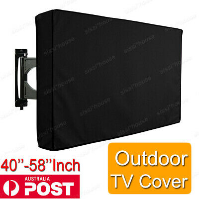 42-58'' Inch Waterproof TV Cover Outdoor Patio Flat Television Protector Black