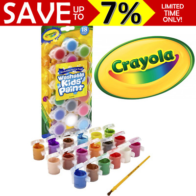 NEW IN PACK Crayola 18x Poster Paints + Brush Set For Kids Children Toddlers