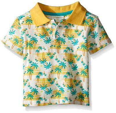 Rosie Pope Baby Boys Palm Tree Short Sleeve Polo Shirt Boys Size 12 Months
