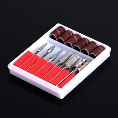 6 Drill File Bits Set Tool for Acrylic Manicure Electric Machine Carver L8V8