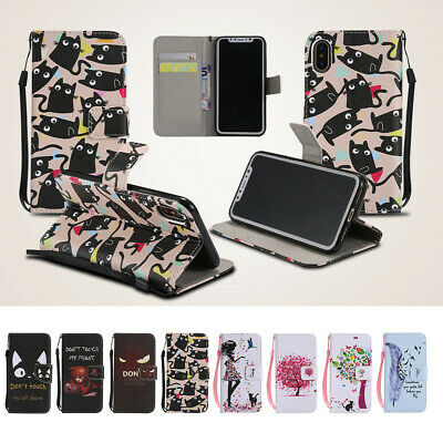 PU Leather Magnetic Flip Wallet Stand Case Cover for iPhone X XR 6.1 XS Max 6.5