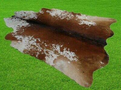 """New Cowhide Rugs Area Cow Skin Leather 32.10 sq.feet (69""""x67"""") Cow hide A-3834"""