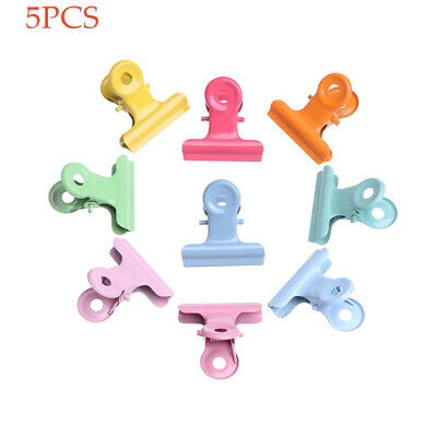 Candy colors Multifunction Sealing Clips Note Clamp Baking Paint Folder