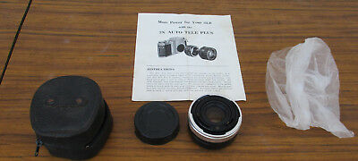 2 X Auto Tele Plus Lenses With Instructions.  Japan.  Collectiblr