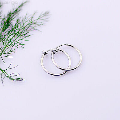 3AFC 2135 Clip On Fake Nose Hoop Ring Ear Septum Lip Navel Earrings Non Piercing