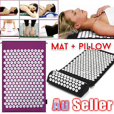 Acupressure Massage Mat relax Relief Pillow for Stress/Pain/Tension Body with