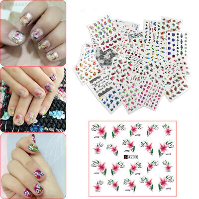 4F08 50Pcs Nail Stickers Art Decals Temporary Tattoos Chic Beautiful DIY Decor