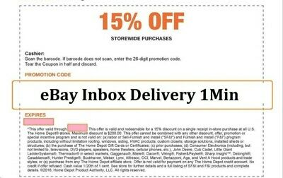 1X~ONE Home Depot 15% OFF Coupon Save up to $200-Instore ONLY SENT__FAST-1-min