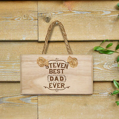 Wooden Door Sign Hanging Decoration Best Ever Message Personalised Family Gift