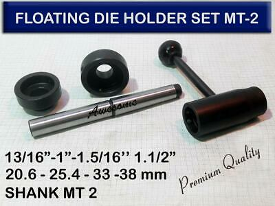 "MT3 Lathe Tailstock Floating Die Holder Set 13//16/"" 1-1//2/"" PREMIUM 1/"" 1-5//16/"""