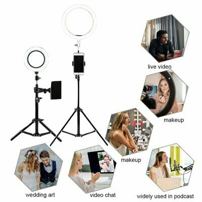 "6"" 8"" 10"" Dimmable Photo Video LED Ring Fill Light Lamp for Youtube Live Makeup"