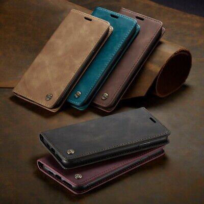 Luxury Leather Wallet Card Slot Flip Stand 360° Case Cover For Smart Cellphones