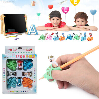 7598 8pcs Rubber Writing Posture Trainer Professional Durable Pencil Holder