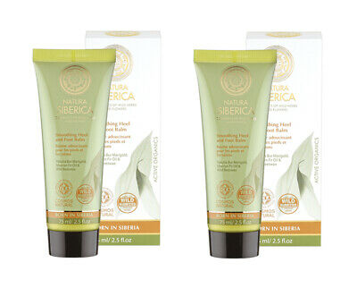 Natura Siberica Smoothing Heel and Foot Balm 75ml TWIN PACK