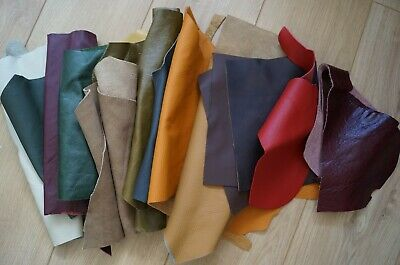2KG(approx)mixed colour soft leather offcut-leather scrap-leather remnants