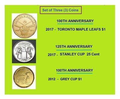 Canada 2012 100th Grey Cup Commemorative Loonie Canadian  Brass One Dollar