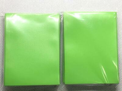 100pcs/Pack DECK PROTECTOR Card Sleeves 66mm*91mm LightGreen Color +Glossy