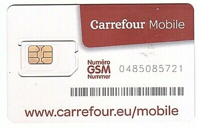 Belgium - SIM Card - Carrefour Mobile - Mint/Neuve Only for Collection
