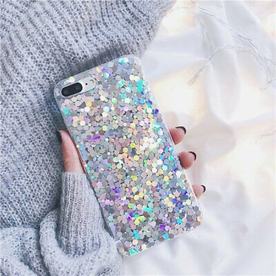 For Samsung Galaxy A50 A70 S10 Plus Bling Glitter Sparkly Gel Phone Cover Case