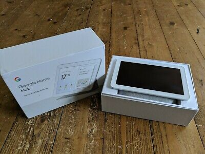 Google Home Hub brand new. White and grey fabric