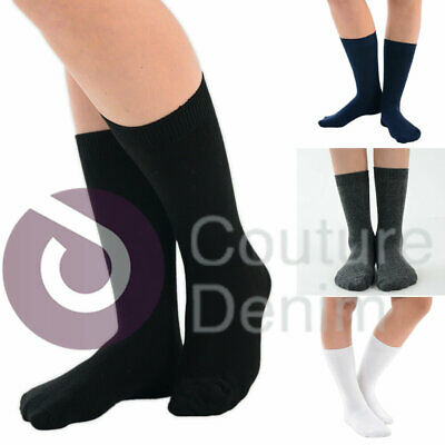 Pack of 3 ,6,9, 12 Pairs Boys Girls Kids Cotton Rich Socks Ankle School Socks