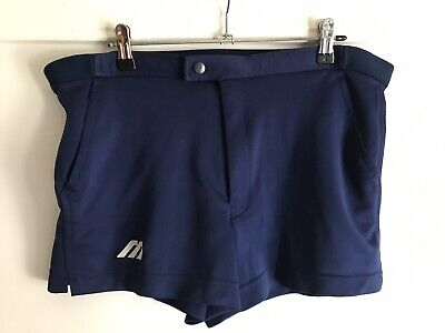 Vtg Unisex Blue Sports Shorts Sz 32