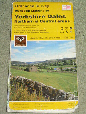 OS Ordnance Survey Outdoor Leisure 30 Yorkshire Dales - Northern & Central areas