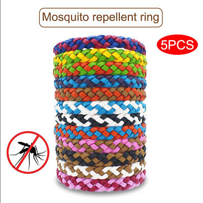 5Pcs Mosquito Repellent Bracelet Natural Insect Repellent Bands Anti Mosquito