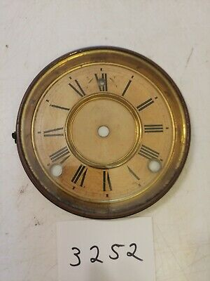 Antique Gilbert Mantle  Clock Dial And Bezel With Glass