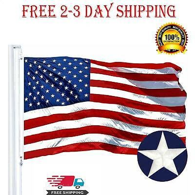 3x5 ft US American Flag Heavy Duty Nylon Print Stars Sewn Stripes Grommets