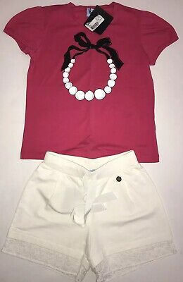 Lanvin Girls Outfit Shorts And Top BNWT Age 8 RRP £200 ❌❌❌
