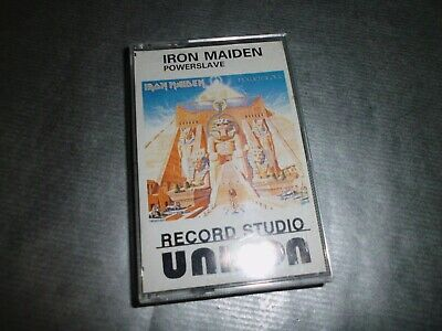 IRON MAIDEN Powerslave RARE Bulgarian CASSETTE Piece Of Mind Somewhere in Time