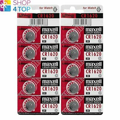 10 Maxell Cr1620 Lithium Batteries 3V Coin Cell Dl1620 Exp 2023 New