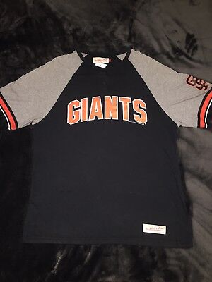 huge discount 90515 76cb4 MITCHELL & NESS San Francisco Giants Long Sleeve Mens Size ...