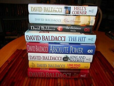 David Baldacci :  8 Hardcovers  Five First Eds, Two First Printings. One Signed.