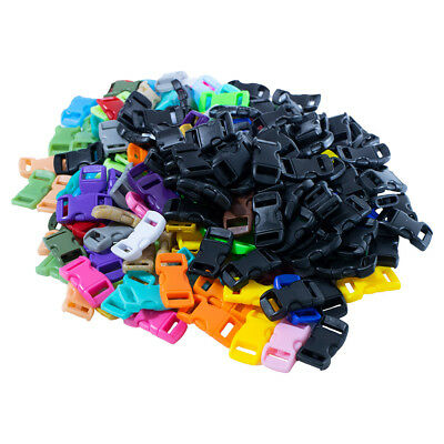 Craft County 3/8 Inch Plastic Buckles - Mixed Color Packs - Multiple Pack Sizes