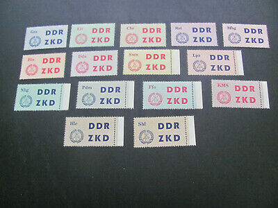 Germany/Ddr  Mnh Official Set 1-15