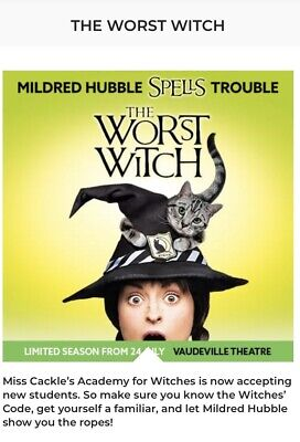 The Worst Witch Tickets X2 On Friday 2nd August At 2:00pm