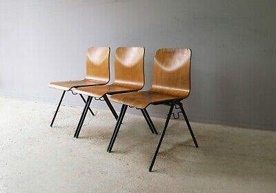 1960's Mid century English stacking chairs - 10 available