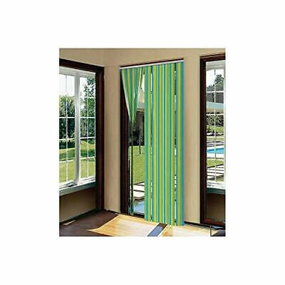 STV235 BUZZ 90X200CM Plastic Door Strip Curtain Fly Insect Striped Blind  Screen