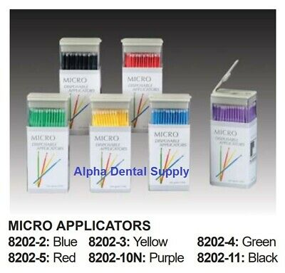 Plasdent Dental Micro Applicators Disposable Standard Multi Purpose Bx/144
