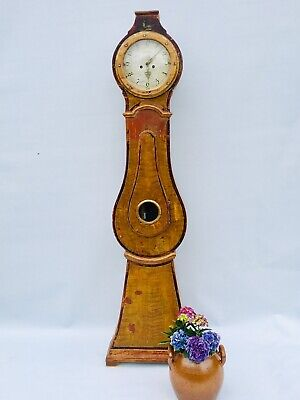 Antique Grandfather Mora Clock Jacob Obergs No 250 Circa 1800s Sweden, Original