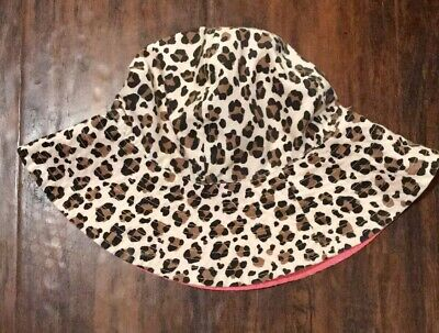 Youth Girls Leopard Print Summer/Spring Hat One Size  Fits All